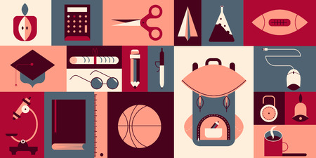 Verschillende dingen voor de kinderen naar school