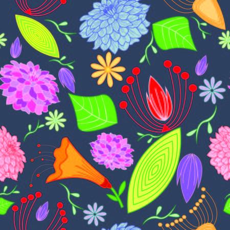 floral seamless pattern 向量圖像