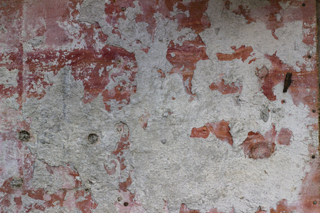 A piece of synthetic board covered with dry cement 写真素材