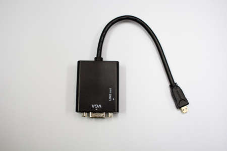 vga: VGA Port and Mini HDMI Stock Photo