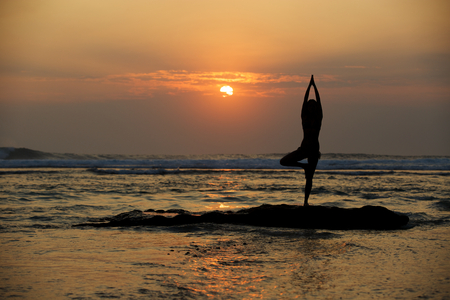 woman meditation: yoga