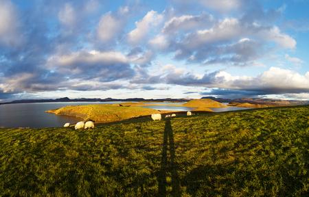 crater highlands: Myvatn lake