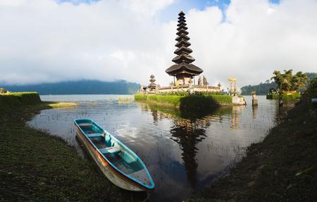 ulun: Pura Ulun Danu temple on a lake Beratan (Bratan). Bali