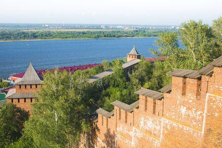 강 Volga 및 오카, 러시아에 Nizhy 노브 고 라 드 kremlin보기