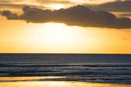 kuta: Kuta Beach sunset, Bali , Indonesia Stock Photo