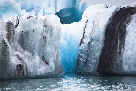 아이슬란드의 남쪽 해안에 Vatnajokull 근처 Jokulsarlon 빙하 라군