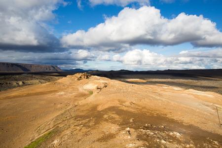 Krafla 칼데라의 용암 들판