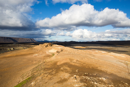 Lava field in Krafla caldera