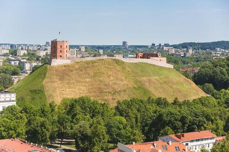 Beautiful Gediminas tower in Vilnius, Lithuania Фото со стока