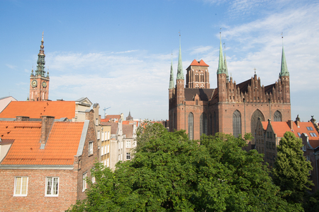 St. Marys Cathedral in Gdansk, Poland. Stock fotó