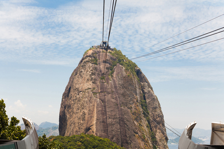 Sugarloaf Mountain view from the cable car in Rio de Janeiro, Brazil Stock fotó