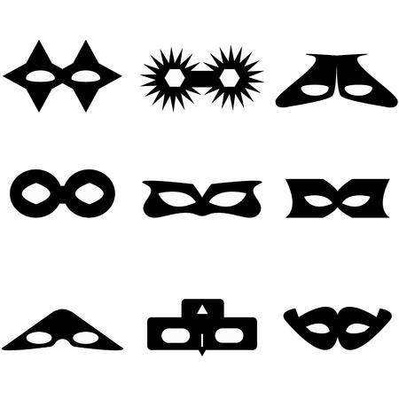 máscara de bandido o superhéroe