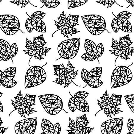 black and white leaf pattern 일러스트