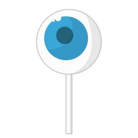 eye candy delicious lollipop for kids for halloween for holiday flat design illustration