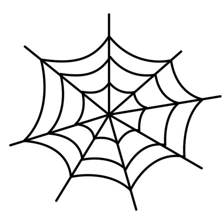 web spider to halloween trap scary background purse or life line on white Vettoriali