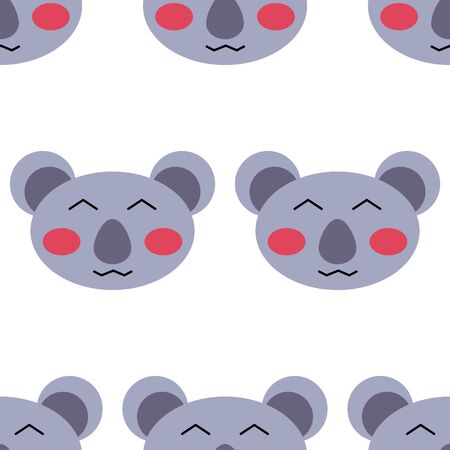 seamless pattern of cute koala isolated on white background for print cards childrens kid illustration
