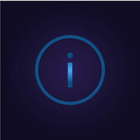 Information icon question, holding service sign outline icon blue in circle, for vector of appbutton 向量圖像