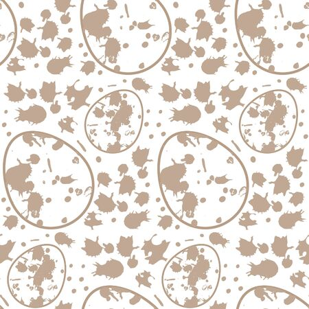 Seamless pattern easter egg with spots, sneaks, dots, moon egg print texture
