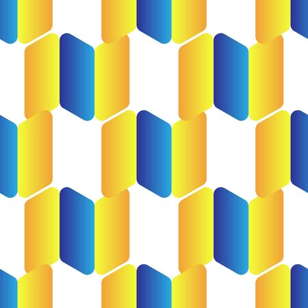 abstract background from yellow and blue rectangles on a white background, a background and texture for the press. 向量圖像