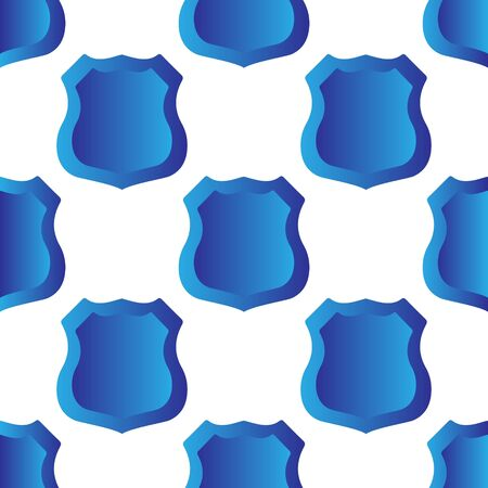 Police, security, sheriff, detective, seamless paternity badge. Blue gradient isolated on white background, vector.