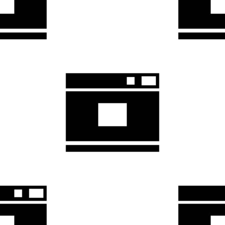 Camera pattern, for the website for photo studios, documents, model photo. A black silhouette isolated on a white background. Symbol for the design of mobile app, game. Vector