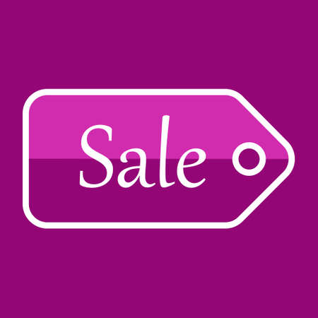 Pink sale discount icon, isolated, promotion, price reduction. Buying, icon for business. 向量圖像