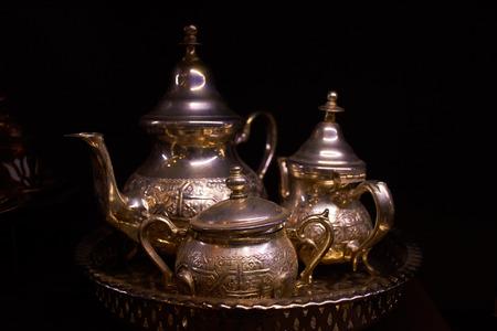 east espresso: Arabian silver teapot