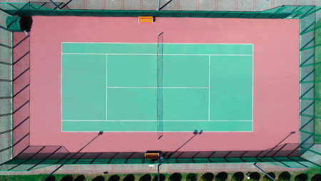 a field for tennis aerial