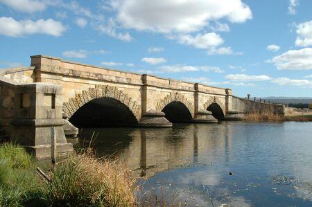 Convict-built bridge, Ross, Tasmania, Australia Stock Photo - 219976