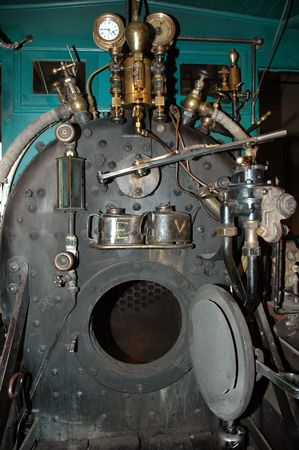 carson city: Steam locomotive innards, Nevada Railroad Museum, Carson City, Nevada