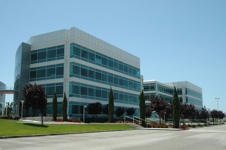 Former Silicon Valley headquarters building, Redwood City, California Stock Photo