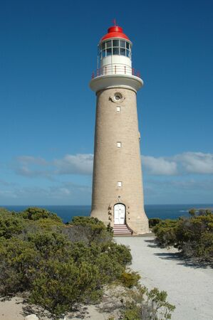 Cape du Couecic Lighthouse near Admiralty Arch, Flinders Chase National Park, Kangaroo Island, South Australia photo