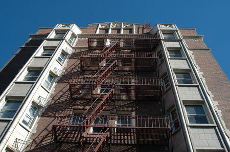 escape: Fire escape on apartment building, Reno, Nevada