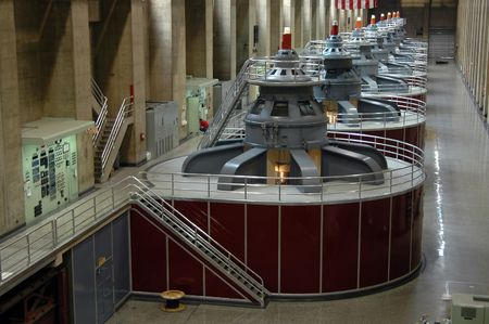 Hydroelectric turbines at Hoover Dam, Boulder City, Nevada Stock Photo - 221950