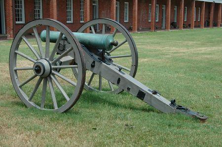 barracks: Civil war cannon, Fort Pulaski, Savannah, Georgia