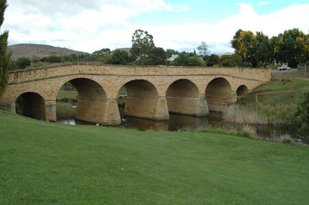 tasmania: 1823 convict-built bridge, Richmond, Tasmania, Australia