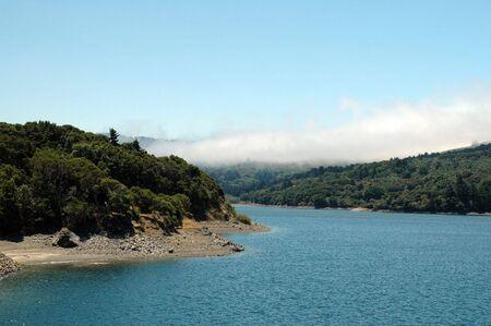 Crystal Springs Reservoir, San Mateo, California Banco de Imagens