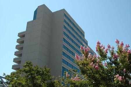 featureless: Hotel tower, Santa Clara, California Stock Photo
