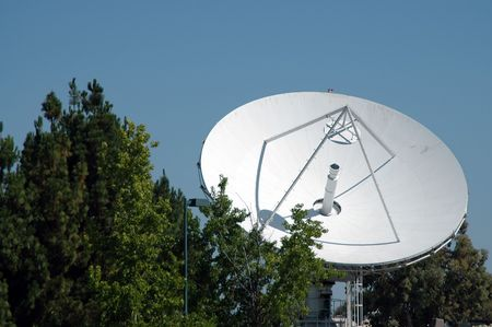 microwave antenna: Microwave communication dish, Mountain View, CA