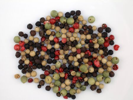 Multicolored peppercorns