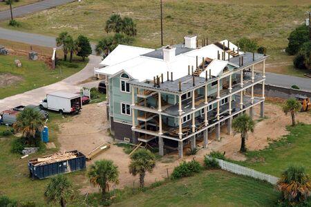 tybee island: Apartments under construction, Tybee Island near Savannah, Georgia