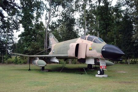 machtige: McDonnell F-4C Phantom Fighter Jet, Mighty Achtste Air Force Museum, Savannah, Georgia