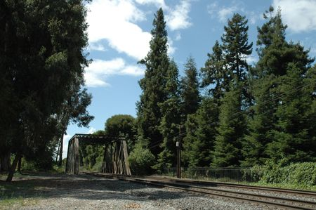 constitutionality: Tracks and trestle used by Caltrain, a commuter rail line to San Francisco, California