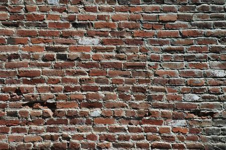 redbrick: Distressed brick wall, Virginia City, Nevada