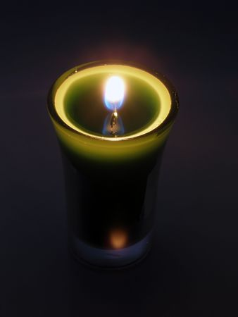 Candlelight in a glass Stock Photo