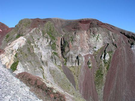 volcano slope: Mount Tarawera volcanic crater near Rotorua, North Island, New Zealand