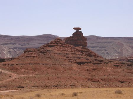Mexican Hat Rock, Mexican Hat, Utah near Monument Valley