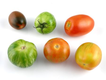 Variety of heirloom tomatoes Stock Photo