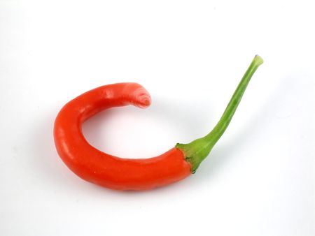 Hot cayenne chile pepper