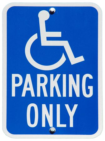 Handicapped Parking Only sign Archivio Fotografico
